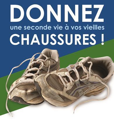 Affichette : deux vieux espadrilles. Donnez une seconde vie à vos vieiles chaussures !