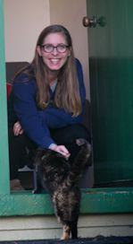 Eleanor Catton and cat