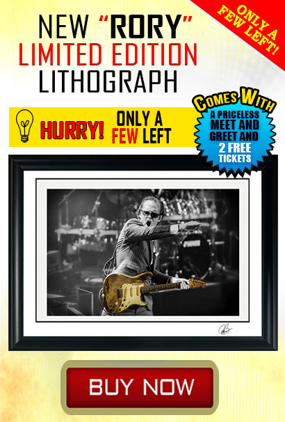 NEW Joe Bonamassa's 'RORY' 100 limited edition Lithograph series! Only a few left! Get it while you can! Buy now!