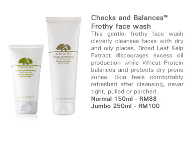 Checks and Balances™Frothy face wash