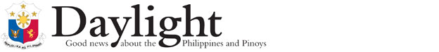 Daylight - Good news about the Philippines and Pinoys